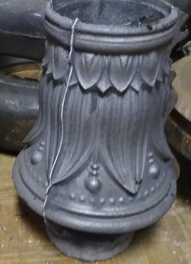 Литая юбка столба